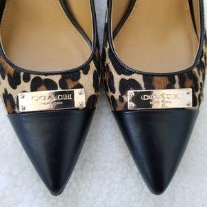 Coach Zan pointed toe pumps leopard print 7.5 B